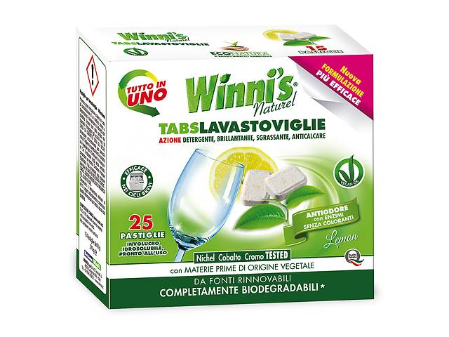 продам Эко-таблетки для посудомоечных машин Winni's (25 шт.) бу в Киеве