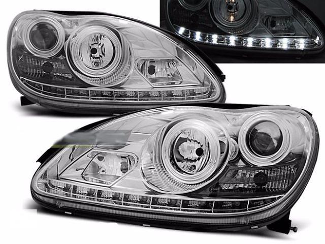 купить бу Фары передние тюнинг оптика Mercedes-Benz W220 (LPME51) Мерседес 220 в Луцке