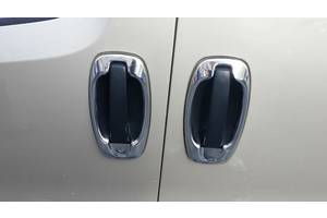 Fiat Doblo III nuovo 2010↗ и 2015↗ гг. Окантовка дверных ручек (4 шт, нерж) Carmos - Турецкая сталь