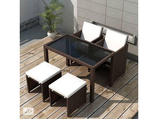 купить бу Комплект мебели для летних площадок, сада стол+кресла коричневый в Львове
