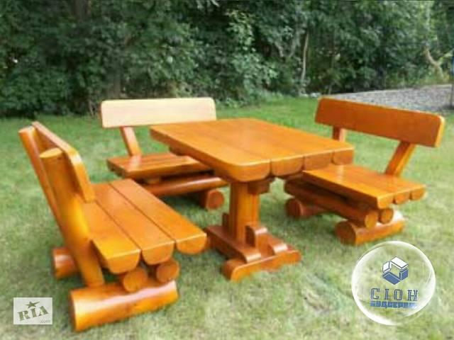 продам Комплект мебели для сада из бревна  бу в Харькове