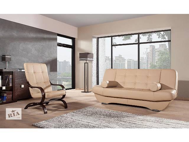 купить бу Кожаный диван и кресло всего за 915 $ Finka/Eryk. Кожаная мебель, набор, комплект. в Луцке