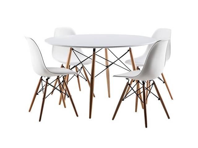 купить бу Набор кухонной мебели для гостиной tutumi 4 стульев + стол в Львове