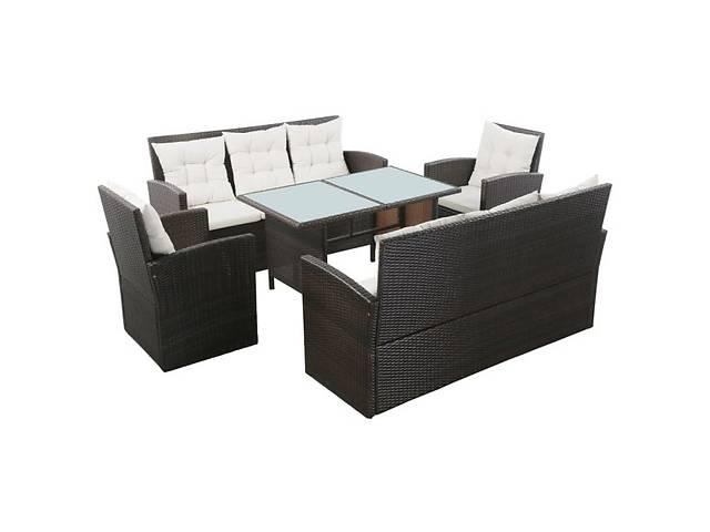 Набор садовой мебели, 5 частей vidaXL Eleven коричнево-кремовый- объявление о продаже  в Львове