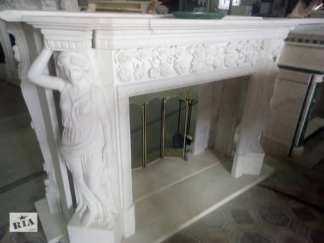 Продам белый мраморный камин из камня Тассос.- объявление о продаже  в Киеве