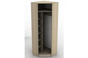Угловой шкаф гардероб для одежды с зеркалом Тиса ШОУ-1 ШхГхВ 700х700х2050 мм