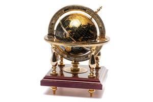 Глобус на подставке BST 170056 25 см золотой World