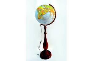 Глобус с подсветкой напольный 420 мм политико-физический на деревянной ножке (рус.) BST 540159