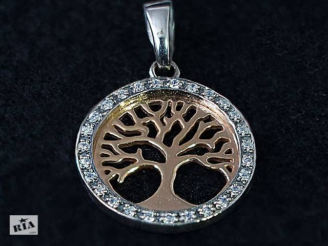 продам Серебряный подвес Дерево жизни. Позолота бу в Запоріжжі
