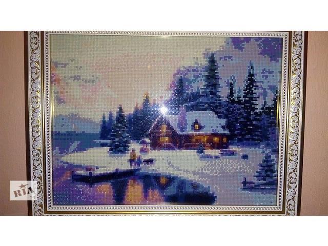 """купить бу Готовая картина в технике алмазная вышивка """"Зима"""" в Кременчуге"""