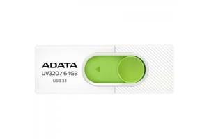 Флешка A-DATA 64GB UV320 White/Green USB 3.1 (AUV320-64G-RWHGN)