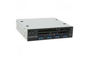 Кардридер CHIEFTEC USB 3.5, черный (CRD-801H)