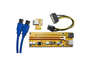 Райзер Compuland Riser Card PCI-E 1x to 16x 6 pin ver. 009 max