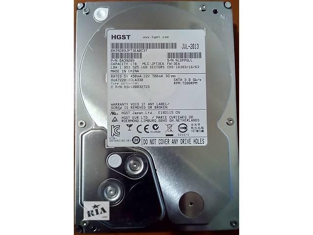 купить бу HDD 1Tb Hitachi 7200 Sata 3 Гарантия в Кременчуге