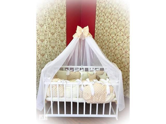 Детское постельное белье в кроватку ТМ Bonna Elite Бежевый горох- объявление о продаже  в Одессе