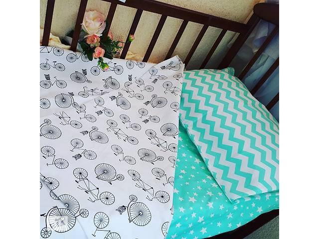 продам Комплект постельного белья - мята ткань бу в Дубні