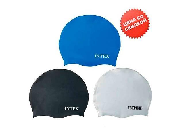 продам Intex Шапочка 55991 (24) для плавания, силикон, 8+лет, 3 цвета, 20см бу в Одессе