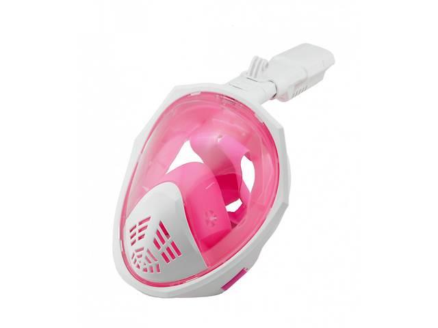 бу Маска для плавания полнолицевая SmartTech L/XL Розовый с белым (hub_np2_1469) в Києві