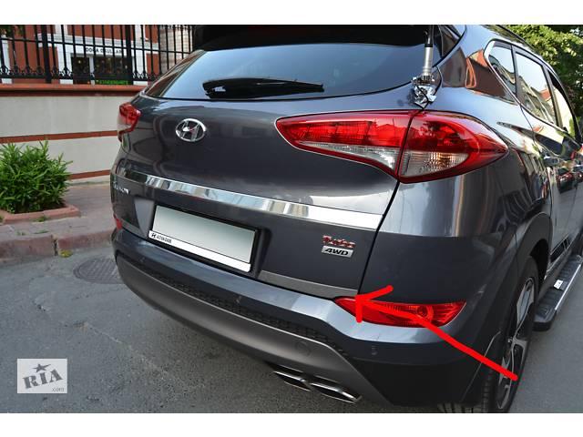купить бу Hyundai Tucson TL 2016↗ рр. Накладка на кант багажника (2 частини, нерж) в Чернівцях