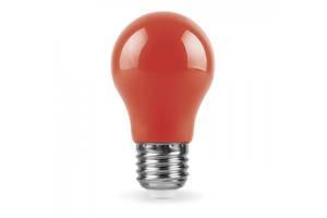 Декоративна світлодіодна лампа червона LB-375 Е27 3W 230V Код.59590