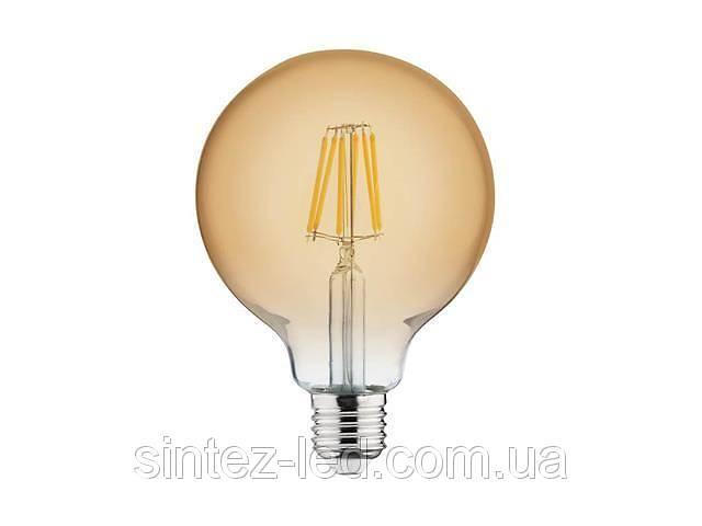 Светодиодная лампа Эдисона Filament VINTAGE GLOBE-6 6W D125 Е27 2200K (мат.золото) Код.55151- объявление о продаже  в Киеве