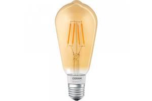 Светодиодная лампа LED Osram SMART LED Е27 5.5-60W 2700K 220V ST64 FILAMENT GOLD Bluetooth 4058075174528