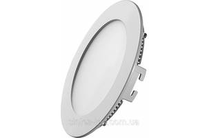 Светодиодная панель SL6 R 6W 3000K  круг белый Код.58451