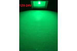 Светодиодный прожектор SL-10 10W 12-24V DC зеленый IP65 Код.59308