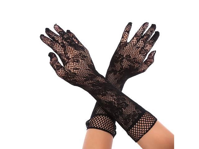 купить бу Ажурные кружевные перчатки до локтя (40 см) в Харькове