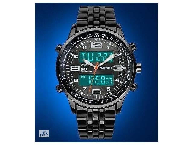 купить бу Наручний годинник SKMEI Amst армійські оригінал чорні водонепроникні WR 30M в Кривому Розі