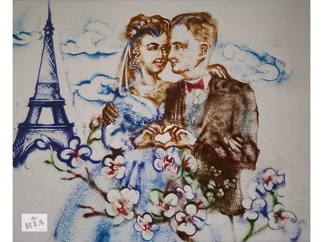 бу песочная анимация онлайн на вашей свадьбе с авторской поэзией  в Украине