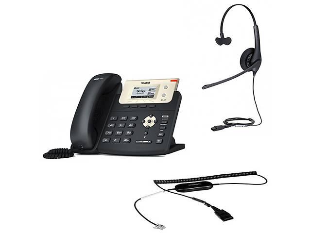 бу Yealink SIP-T21 E2 + Jabra BIZ 1500 Mono QD + кабель Jabra GN1200 CC в Киеве