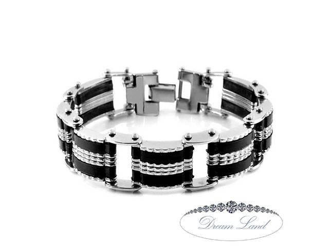 бу Стильный мужской браслет со стали на силиконовом ремешке, подарок для парня или девушки, любимому и любимой сюрприз в Червонограде