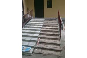 Ремонт ступеней крыльца,бетон,плитка,металл