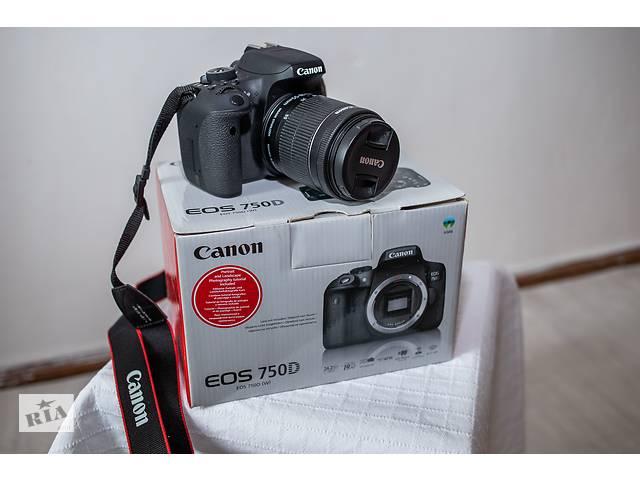 продам Продам фотоапарат Canon EOS 750D+ объектив Canon 18-55mm  бу в Калуше