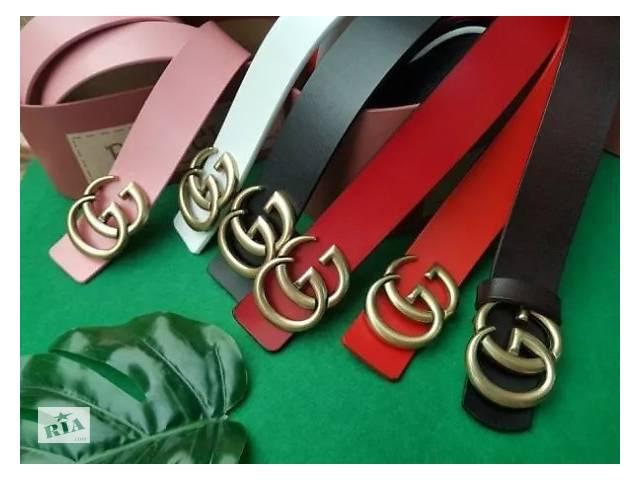 бу Женский кожаный ремень GUCCI, пояс, ремешок, ремень на подарок гучи в Харькове