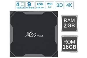 X96 MAX 2гб/16гб Смарт ТВ приставка S905X2 Android 9 PIE 2020 Настройка + Гарантия