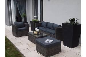 Комплект садовый BORNEO раттан черный, коричневый,белый, серый