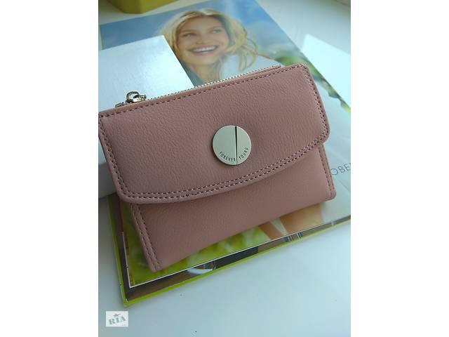 купить бу Кошелек визитница кошелечек портмоне короткий компактный маленький пудровый пудра в Шостке