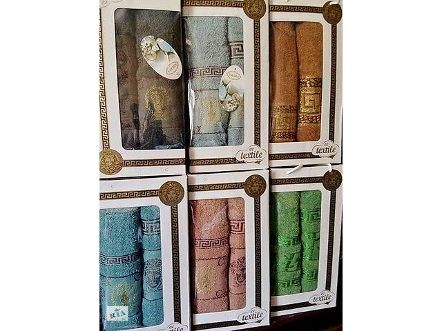 купить бу Набір махрових рушників 70х140 плюс 50х100 з бавовни в Києві