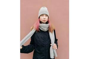 Вязаный комплект:шапка, шарф