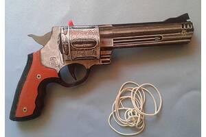 Деревянный пистолет-резинкострел Smith & Wesson