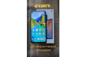 Новый!Xiaomi Redmi Note 9, NFC,4/128Гб, 48мп,5020 ма, глобал,серый