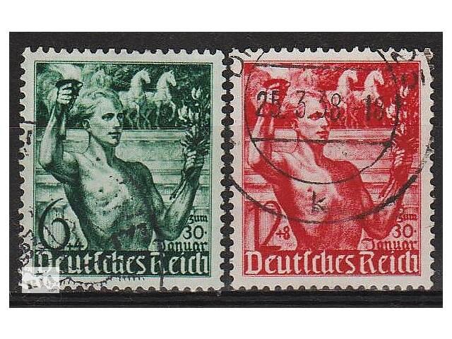 1938 - Рейх - 5 лет правления Гитлера Mi.660-61- объявление о продаже  в Ровно