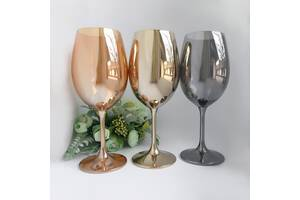 Набор бокалов для вина 450 мл. Bohemia Sylvia цвет в ассортименте