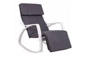 Кресло качалка 02 WHITE нагрузка 120 кг.