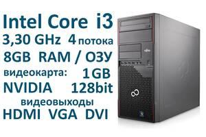 CPU: 3.3GHz 4 ядра 4 потока 8Gb ОЗУ Системный блок Fujitsu из Германии