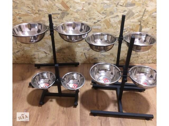 Миски для собак на подставке для крупных пород на 4 литра штатив 70 см- объявление о продаже  в Киеве