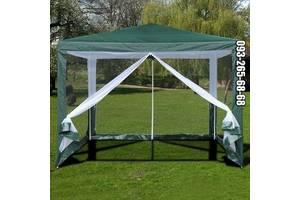 Садовый водонепромецаемый шатер, павильон, тент,пасика. 3х3 м. Новый