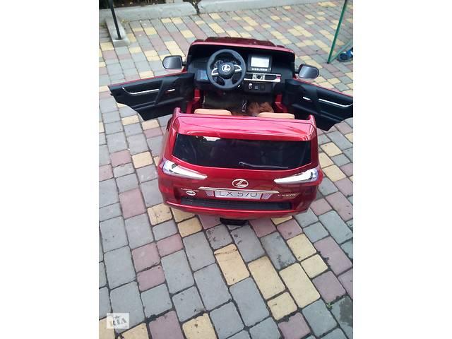 бу Детский электромобиль Джип Лексус Bambi (M 3906EBLR) Lexus 570 полноприводный Красный Автопокраска в Березовке